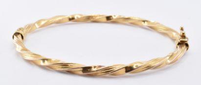 9CT GOLD TWIST BANGLE BRACELET