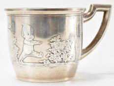 1930'S SILVER CHRISTENING CUP