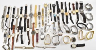 LARGE COLLECTION OF GENTLEMEN'S WRISTWATCHES