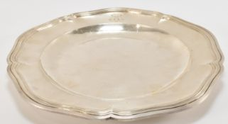 19TH CENTURY FRENCH SILVER PLATTER