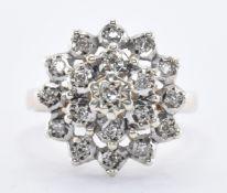HALLMAKED 9CT GOLD & DIAMOND CLUSTER RING