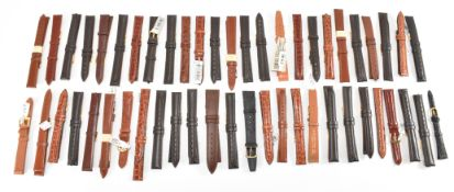 ASSORTMENT OF LEATHER WATCH STRAPS