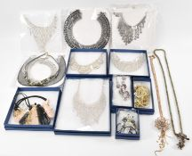 COLLECTION OF FASHION COSTUME JEWELLERY NECKLACES