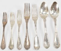 SILVER FRENCH SPOONS AND FORKS