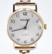 9CT GOLD MAJEX WRIST WATCH