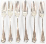 SIX SILVER VICTORIAN FORKS