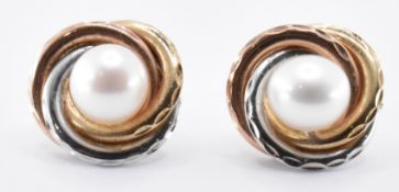 PAIR OF 9CT GOLD & CULTURED PEARL EARRINGS