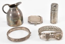 GROUP OF VICTORIAN & LATER SILVER ITEMS