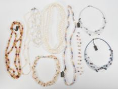 TEN HONORA COLLECTION CULTURED PEARL NECKLACES