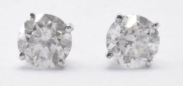 PAIR OF 14CT GOLD & DIAMOND STUD EARRINGS