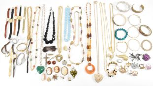 COLLECTION OF VINTAGE COSTUME JEWELLERY