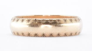 HALLMARKED 9CT GOLD ENGRAVED BAND RING