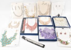 COLLECTION OF BOXED COSTUME JEWELLERY SUITES