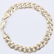 9CT GOLD FLAT LINK BRACELET CHAIN