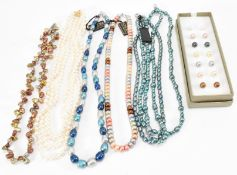 ASSORTMENT OF CULTURED PEARL NECKLACES