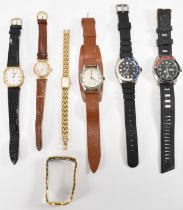 ASSORTMENT OF VINTAGE WATCHES INCLUDING HERMES & LONGINES