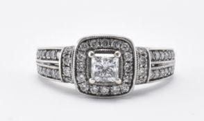 14CT WHITE GOLD & DIAMOND RING