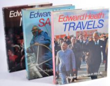 SIR EDWARD HEATH (BRITISH PRIME MININSTER 1916-2005) - SIGNED BOOK COLLECTION