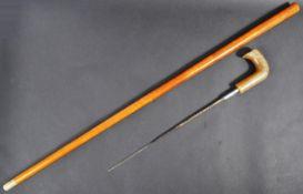 20TH CENTURY GENTLEMANS SWORD STICK