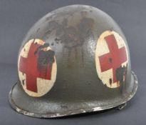 WWII SECOND WORLD WAR UNITED STATES ARMY M1 MEDICS HELMET