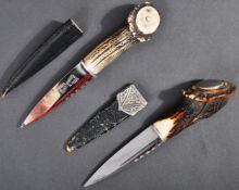 TWO VINTAGE SCOTTISH HIGHLAND SKEAN DHU KNIVES / DAGGERS