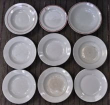 COLLECTION OF ASSORTED ORIGINAL NAZI GERMAN PLATES / BOWLS