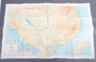ORIGINAL WWII RAF ROYAL AIR FORCE / MILITARY SILK ESCAPE MAP