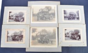 EARLY 20TH CENTURY BUS PHOTOGRAPHS - ISLE OF WIGHT