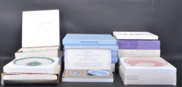 LARGE COLLECTION OF VINTAGE 20TH CENTURY WEDGWOOD JASPERWARE COMMEMORATIVE PLATES