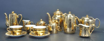 VINTAGE 20TH CENTURY ROYAL WORCESTER GOLD TEA AND COFFEE SERVICE
