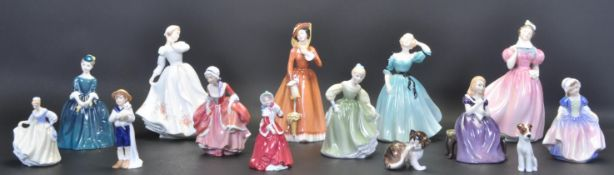 GROUP OF PORCELAIN ROYAL DOULTON LADY FIGURINES