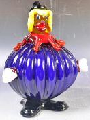 RETRO VINTAGE MURANO STUDIO ART GLASS CLOWN FIGURINE