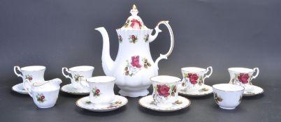 VINTAGE 20TH CENTURY BONE CHINA TEA SERVICE WITH ROSE DECORATION