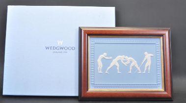 SYDNEY OLYMPICS LIMITED EDITION WEDGWOOD JASPERWARE WALL PLAQUE