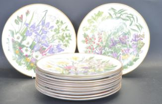 COMPLETE COLLECTION OF FRANKILIN MINT FLOWERS OF THE YEAR PLATE