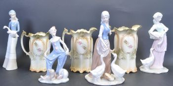 COLLECTION OF 20TH CENTURY LLADRO / NAO STYLE FIGURINES