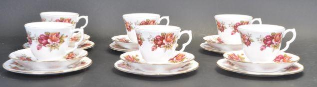 VINTAGE SIX PERSON TEA SERVICE BY GAINSBOROUGH