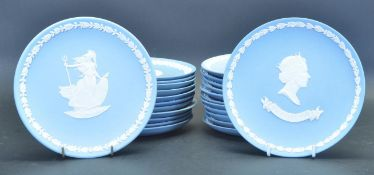 LARGE COLLECTION OF WEDGWOOD JASPERWARE PLATES