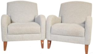 PAIR OF CONTEMPORARY JHOWARD STYLE ARMCHAIRS