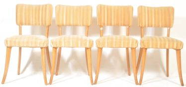 4 VINTAGE RETRO CIRCA 1960'S DANISH INSPIRED DINING CHAIRS