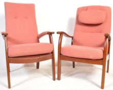 TWO PARKER KNOLL ARMCHAIRS / EASY CHAIRS