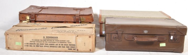 GROUP OF MID 20TH CENTURY TRAVELING SUITE CASES