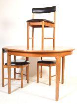 1960'S MCINTOSH TEAK WOOD DINING TABLE & THREE CHAIRS