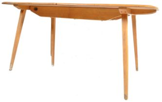 20TH CENTURY ERCOL BLONDE BEECH AND ELM DINING TABLE