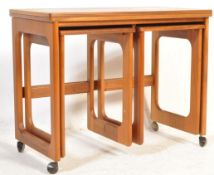 MID 20TH CENTURY TEAK WOOD NEST OF TABLES BY MCINTOSH