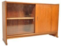 1960'S DANISH INSPIRED TEAK WOOD BOOKCASE CABINET