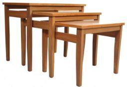 1970'S TEAK WOOD DANISH INSPIRED NEST OF TABLES