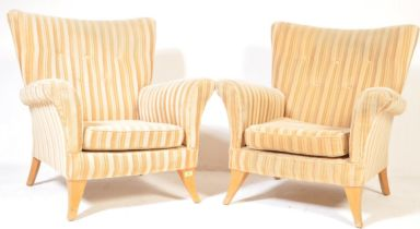 PAIR OF VINTAGE PARKER KNOLL WING BACK ARMCHAIRS