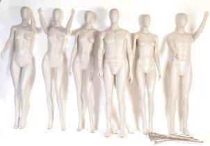 COLLECTION OF SIX CONTEMPORARY SHOP FRONT MANNEQUINS