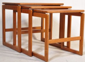20TH CENTURY TEAK WOOD NEST OF TABLES BY MCINTOSH
